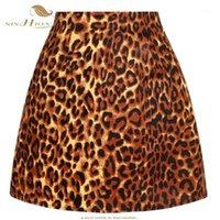 Sishion 2020 algodón sexy leopardo falda ss0008 vintage animal impresión rock una línea mujeres señoras mini falda corta1