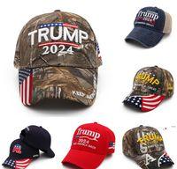 Camouflage US-Flagge Trump 2024 Kugelhut Sommer Baseball Ball Caps Unisex Designer Snapback Sport Joggen im Freien Hüte FWB6584