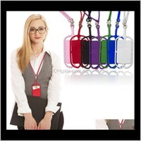 Party Favor Sile Lanyards Case Holder With Neck Strap Necklace Sling Card For Universal Mobile Cell Phone Hanging Rope Poqrg Dvpjl