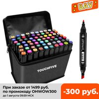 TouchFive 30/40/60/80/168 Marcadores de arte de cor definir marcadores de álcool oleosos com manga de animação