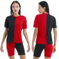 Женские трексуиты летние женские спортивные одежды спортивные костюмы спортсмены йога наряды фитнес костюм одежда 2шт, повседневная футболка и шорты