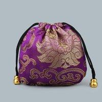 الصينية الحرير الساتان النسيج مجوهرات هدية الحقيبة الرباط قلادة الإسورة سوار السفر حقيبة التخزين الحرفية LZ718