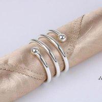 Металлические пружинные кольца салфетки для стола кухня сервера держатель свадебный банкетный ужин Рождественский декор одолжение DWD6179