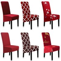 Chair Covers Cover Stretch Geometric Spandex Printing Dining Room A45014
