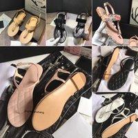 2021 Moda C Lüks Kadın Sandal Kristal Buzağı Deri Kapitone Platformu Sandalet Ayakkabı Tasarımcısı Düz Sandalias Boyutu 35-41