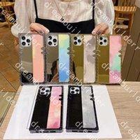 패션 전화 케이스 iPhone 12 Pro Max Mini 12mini 11 11pro 11promax x xs xr xsmax 7P 8P 7 8 플러스 PU 미러 보호 케이스 디자이너 커버