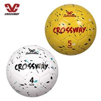 Crossway Sports Soccer Ball Size 4 and Sizes 5 w  Pump & Carry Bag Composite Leather for Kids Youth Adult Training