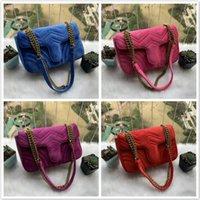 2021 3a أزياء النساء مصممين هامونت حقيبة الكتف المخملية حقيبة يد الشهيرة crossbody أكياس الأنثوية سلسلة حقيبة كروسبودي سلسلة حقيبة يد
