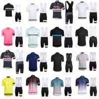 Rapha equipe ciclismo de mangas curtas jersey (babador) bike shorts set MTB Sobycle ropa ciclismo mens pro verão ciclismo Maillot wear B615-6