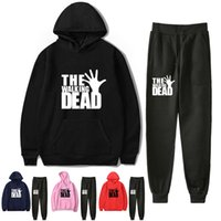 2021 Moda Cool the Walking Dead Hoodies Pants Suit Mens Casual Felpe con cappuccio Pantaloni Set autunno inverno Tuta