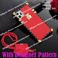 fashion trunk phone cases for iphone 13 12 Pro Max 11 X XR 7 8 Plus designer leather phone case With Lanyard