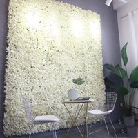 Decorative Flowers & Wreaths 60X40cm Artificial Hydrangea Flower Wall Pography Props Home Backdrop Decoration DIY Wedding Arch
