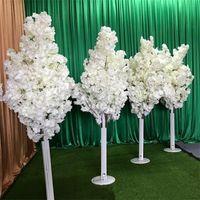 모방 체리 나무 다채로운 인공 벚꽃 나무 로마 열 도로 리드 결혼식 몰 열린 소품 철 철 예술 꽃 문
