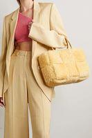 Furry Designer Fashion Bags for Women Candy Weekender Winter Ladies Tote Fur Large Capacity Female Top Handle Bag 2021