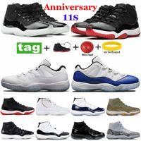 11 XI Uomo Scarpe da Basket Concord 45 Space Jam Platinum Tint Win Like 96 Bred 11s Sneakers Donna Scarpe sportive 36-47