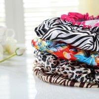 Мода леопардовый печать душевая шапка взрослого двойной защиты от окружающей среды PEVA водонепроницаемый шампунь кепки для ванной комнаты 9 стилей OWF6303