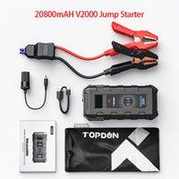Topdon V2000 20800mAh Car Jump Starter 1200A JumpStarter Starting Device Wireless Power Bank Charger Emergency Car Auto Booster