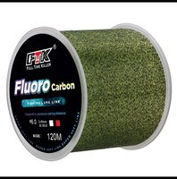 Realfine888 al por mayor FTK 120M Líneas de pesca principal de fluorocarbono Super Soft Fish Line Subline Line Nylon Monofilament Braid