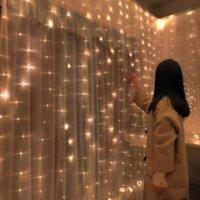 Christmas Decorations Home 3m Curtain String Light Flash Fairy Garland Home Decor Navidad 2021 Xmas Decoration