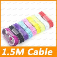 Micro USB Data Sync Charger cables Lead Unbroken Metal Connector Strong Braid 1.5M 5Feet cable