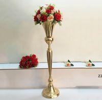 98 cm Tall Vintage Flower Vase Pot Pot Decorazione Partito Decorazione Metallo Tromba Matrimonio Matrimonio Cerimonia Anniversary Centerpiece Decorazioni Casa Seaway H