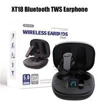 XT18 بلوتوث TWS سماعات سماعات لاسلكية سماعات مزدوجة قنوات ستيريو صوت الموسيقى سماعة سماعات أذن آيفون 11 12 13 Samsung S10 S20 جميع الهاتف الذكي مع صندوق الشحن