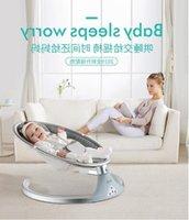 Bassinets & Cradles electric rocking chair baby cradle recliner sleep newborn comforting hair bionic shaking shaker