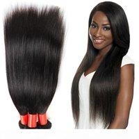Qualidade superior Brasileira cabelo virgem em linha reta 3 PCS 7A Virgem Brasileiro Brasileiro Pacotes Brasileiro Brasileiro Cabelo Humano Tece