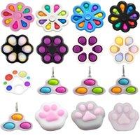 Fidget Fidget Simple Dimple Bubble Toys Stress Relieve Squeeze Plush Squishy Ball Placa Educativa Anti-Estres Regalos Adulto Niño