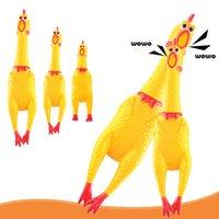 비명 치킨 짜기 사운드 장난감 애완 동물 개 장난감 제품 추전 압축 해제 도구 퀴즈 벤트 닭
