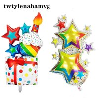 Party Decoration Fireworks Birthday Bow Gift Pack Aluminum Foil Balloon Wedding Christmas Halloween Baby 1st Anniversary
