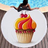 Towel Summer Fashion Creative Beach 3D Cherry Ice Cream Cake Bath Towels Swimwear Cloak Shawl Yoga Mat Throw Soft Blanket