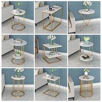 Northern Europe Light Luxo Chá De Mármore Simples Sala de estar Sofá Side Corner Várias Única Plataforma Dupla Pequena Pequena Tabela Creative Beedside