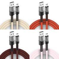 Typ C USB-Kabel Fast Ladekabel Nylon geflochtene Zinklegierung Schnellladegerät Kabelkabel für Huawei lg Android Telefon