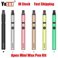 Authentic Yocan Apex Mini Wax Pen Kit E-cigarette 380mAh Vape Battery Vaporizer Heating 510 thread Box Mod QDC Coil With Micro USB Charging Kits 100% Genuine