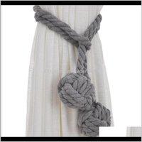 A Pair Tied Clip Hand Knitting Curtain Rope Tiebacks 3Evra Xpylc