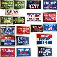 Donald Trump Bandiere 3x5 ft 2024 Make America Florida Desaantis Bandiera Stati Uniti d'America Il presidente Trump ha vinto Banner Bandiere CYZ3269