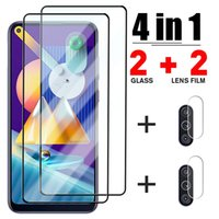 Cell Phone Screen Protectors 4IN1 Camera Lens Protective Glass For Samsung A52 A51 A32 A72 71 A12 A21S Screen Glass For Samsung A50