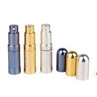 Bullet Toplu Parfüm Şişe Sprey Alüminyum Tüp Boş Şişeler Parti Malzemeleri Kozmetik Taşınabilir Mini Cam Liner 6 ml Deniz DHC7536