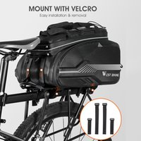 Mountain Bike Bag Backseat Hard Shell Bag Large Capacity Rainproof Reflective Case Outdoor Cycling Bicycle Accessories