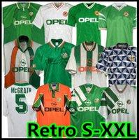 1990 1992 1993 1996 아일랜드 레트로 축구 유니폼 88 90 92 97 98 Northern Ireland McGoldrick Classic Jersey Vintage Irish Sheedy 1994 1995 축구 셔츠 1998