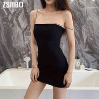 Women's T-Shirt Sexy Sheath Dress Black Halter Sleeveless Club Wear Bodycon Mini Vestidos es Clothes