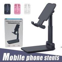 Support de téléphone pliable Stand de bureau flexible réglable mobile compatible avec smartphone Android pour 11 xs xs pro max avec boîte de vente au détail DHF7695