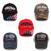 Trump Snapbacks Berretto da baseball Cappello ricamo Cotton US Presidential Election Tenere l'America Grande Presidente Trump 2024 Repubblicano Kag Maga per gli uomini donne