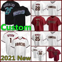 Arizona Baseball Mesh 51 Randy Johnson Jersey personalizzato Diamondbacks 56 Kole Calhoun 4 Ketel Marte 13 Nick Ahmed 53 Christian Walker Mens