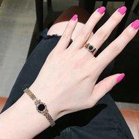 Roman Numerals Trendy Exquisite Spring Open-Ended Bracelet Titanium Steel Bracelet Womens Rose Gold Bracelet Anti-Allergy