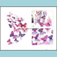 Décor & Garden3D Simation Butterfly Fridge Magnets Home Animal Pvc Kids Rooms Wall Stickers Wedding Brooch Hair Aessories Ornament 1 6Dj M2