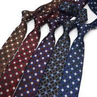 Business Dress Suit Men Tie 2021 Brand New Fashion Casual 6CM Skinny Necktie Gentleman Western Style Retro Gift Box