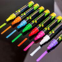 السائل الطباشير ماركر أقلام المسح متعدد الألوان الملونة الصمام الكتابة مجلس الزجاج نافذة الفن فلاش لون ماركر أقلام