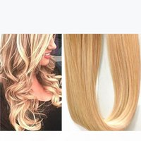 26 Colors Mix 16Inch to 24Inch Tape in Human Hair Extensions Tape Hair Extensions, 40pcs 100g sets blonded p18 613 colour